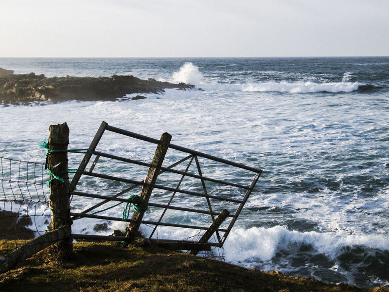 Beauty In Nature Broken Gate Cliff Coastline Crashing Waves  Erosion Erosion Effects Gate Gate Post Horizon Over Water Majestic Nature No People Ocean Outdoors Outer Hebrides Remote Rocks Scenics Sea Seascape Tide Wave
