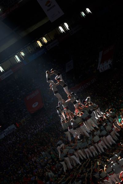 Castellers Human Towers Architecture Night High Angle View Built Structure Building Exterior City Illuminated