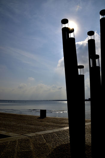 Sea Beach Water Silhouette Sky Cloud - Sky Outdoors Horizon Over Water No People Sand Day Nature