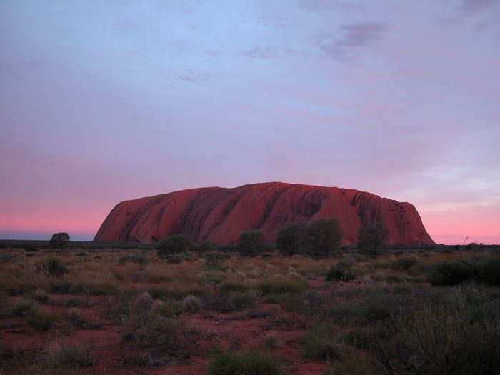 Stone Uluru Nikon Australian Landscape Sunset Northern Territory Curtin Springs Ayers Rock Outback Red Centre Australia Desert Sky Plant Landscape Beauty In Nature Scenics - Nature Environment No People Nature Rock - Object Rock Non-urban Scene Land Rock Formation Outdoors Solid Sunset