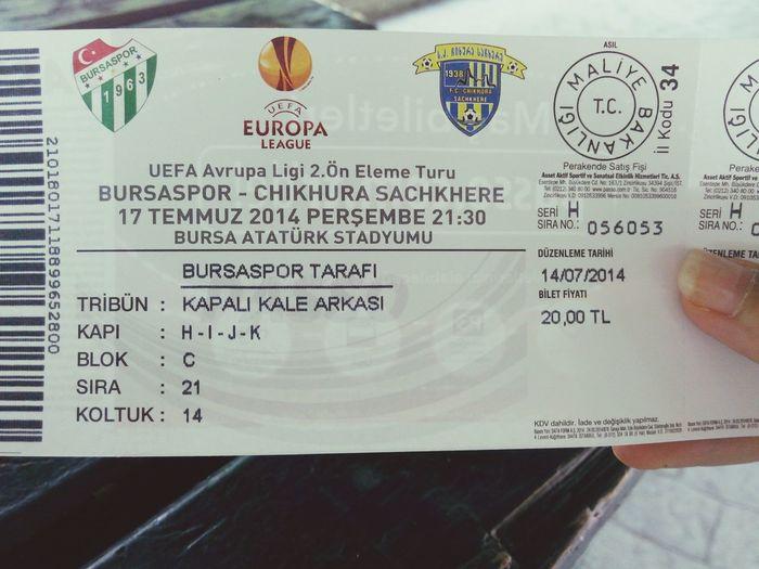 Maç için hazırız bekle bizi avrupa BURSA geliyor :):))) Bursaspor Texas YeşilBeyaz Biraşkbu