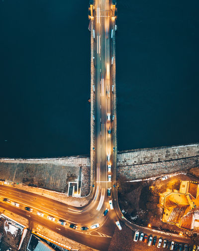 City at night Aerial Shot City Cityscape Drone  Aerial View Architecture Birds Eye View Building Exterior Built Structure City Europe High Angle View Illuminated Long Exposure Mavic Mavic Pro Motion Night No People Outdoors Road Transportation Water