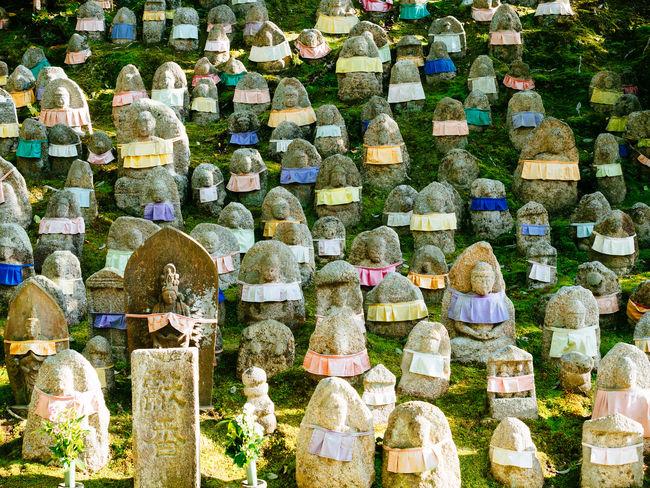 at the Kiyomizu-dera temple Arrangement Buddha Buddha Statue Large Group Of Objects Still Life Stone