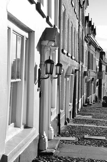 Streetphotography The Architect - 2015 EyeEm Awards Monochrome House Black And White Amazing Architecture Ludlow Cobblestones Cobblestone Cobblestone Streets