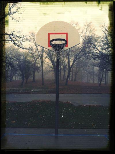 Basketball Hoops Free Throw Fog Foggy Vision