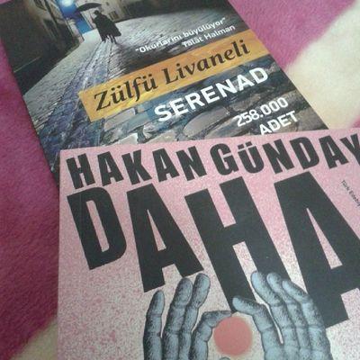 Oh oh yeni kitaplar gelmis, ha gayret filizcim :) Zulfulivaneli Serenad Hakangünday Daha
