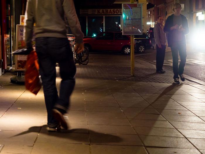 Adapted To The City City Illuminated Lifestyles Night Nightlife People