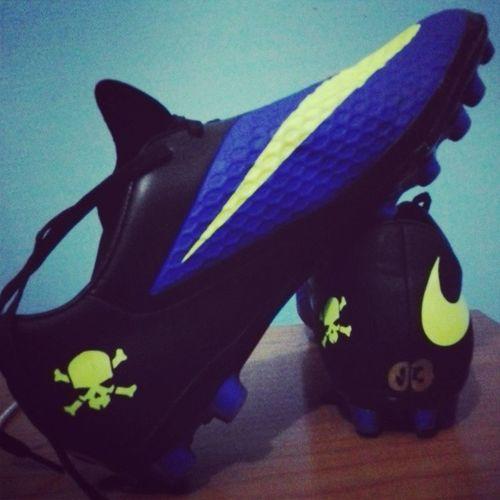 Botas Nuevas :) Hipervenon AzulyNegra Nike 03 A