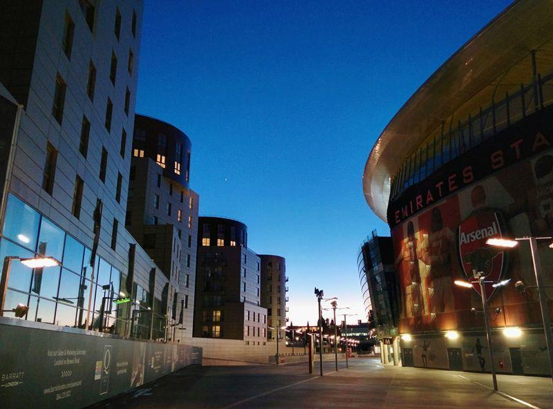 Emirates Football Stadium at sunset London Sunset Clear Sky