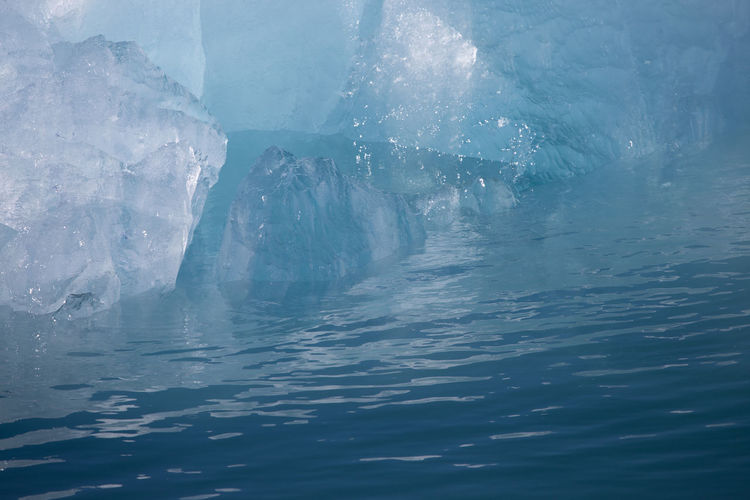 Iceberg & sea interface Arctic Ocean Ice Abstract Beauty In Nature Blue Cold Temperature Day Iceberg Nature No People Outdoors Sea Water