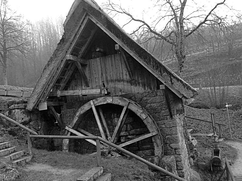 No People Water Wheel Outdoors In The Black Forest Germany
