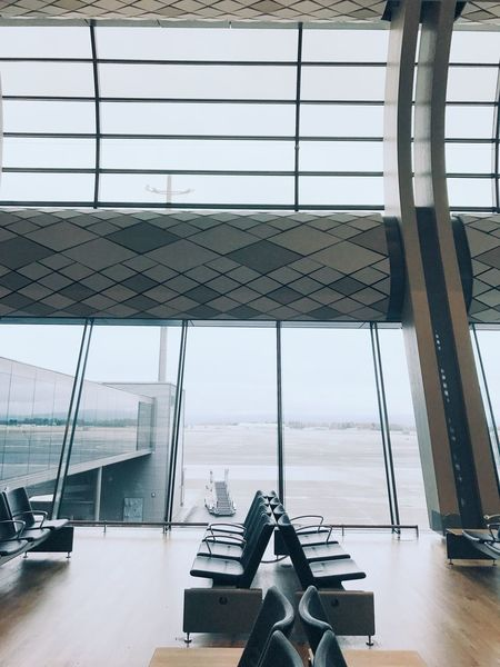 Waiting hall Airport Indoors  Window Architecture Day Built Structure No People Modern Business Technology Airport Departure Area Transportation Colour Your Horizn