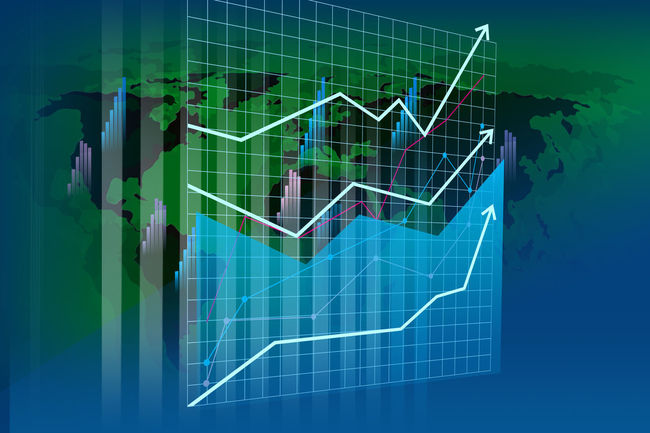 Word Action Business Chart Decrease In Shares Dollar Notes Europe Graph Green Color Growth Line Graph No People Stock Market And Exchange Technology