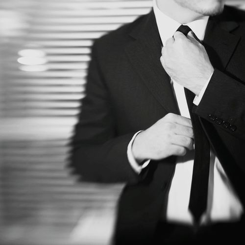 Well Turned Out Suit Up! Suit & Tie Timetomove Black&whitesuit