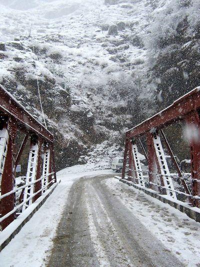 Snow Snowing Fog Metal Bridge Manali Himachalpradesh Himalayas Snow Winter Road Cold Temperature Bridge - Man Made Structure Bridge Snowfall Foggy Mist Weather Blizzard It's About The Journey