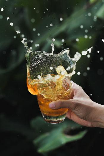 A splash of fresh tea