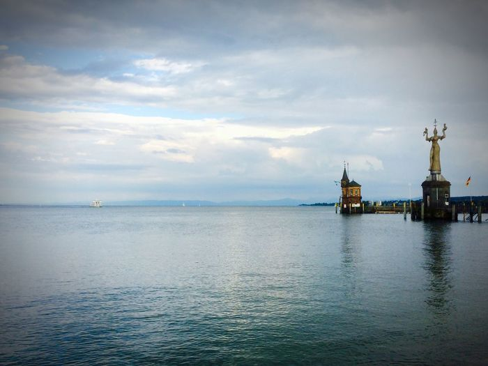 Check This Out That's Me Konstanz Bodensee Lake Swiss Alps View Water Dramatic Sky