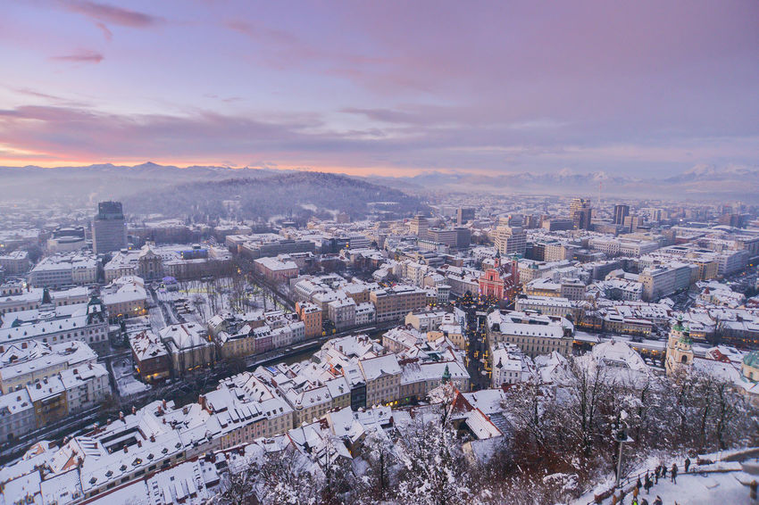 Blue Hour City EyeEm EyeEm Best Shots Ljubljana Ljubljana, Slovenia Slovenia Snow ❄ Winter Winterscapes Wintertime Architecture Beauty In Nature Best Shots Building Exterior Built Structure City Cityscape Cold Temperature Community Day High Angle View Ljubljana Castle Ljubljanacity Ljubljanamoments Mountain Nature No People Outdoors Residential Building Residential District Sky Slovenija Snow Snowing Sunset Travel Destinations Tree Winter Winter Wonderland Shades Of Winter