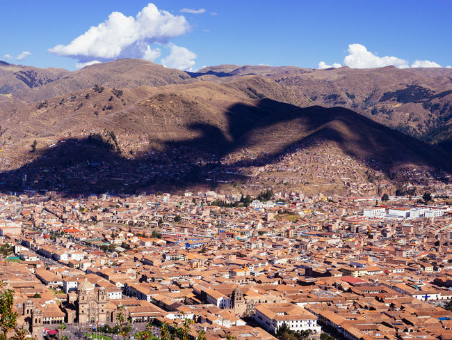 Cusco Architecture Beauty In Nature Building Exterior Built Structure City Cityscape Crowded Cusco Day High Angle View Mountain Mountain Range Nature Outdoors Peru Scenics Sky Sunlight Town Tree