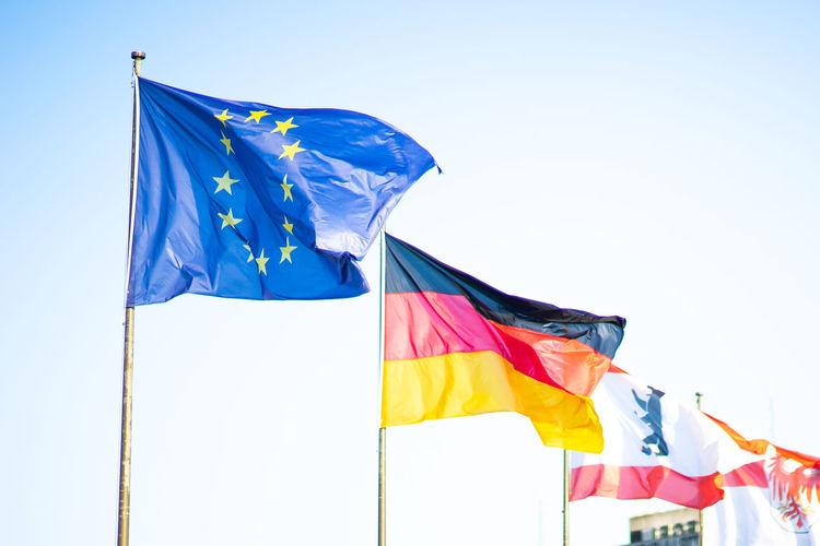 European Union Flag in Berlin Europe European Union European Union Flag Flag European Flag Eu Flag Germany German Berlin Sky Building