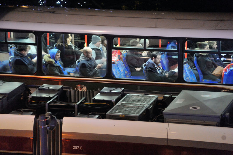 Top Deck - Princes Street, Edinburgh City Edinburgh Bus Commute Commuters Group Of People Mode Of Transportation Night Real People Transportation