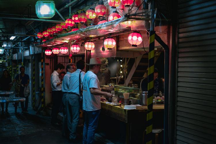 HUAWEI Photo Award: After Dark Japan Japan Photography Night Lights Nightphotography Tokyo Adult Food Group Of People Illuminated Leisure Activity Men Night Nightlife Restaurant Standing #urbanana: The Urban Playground