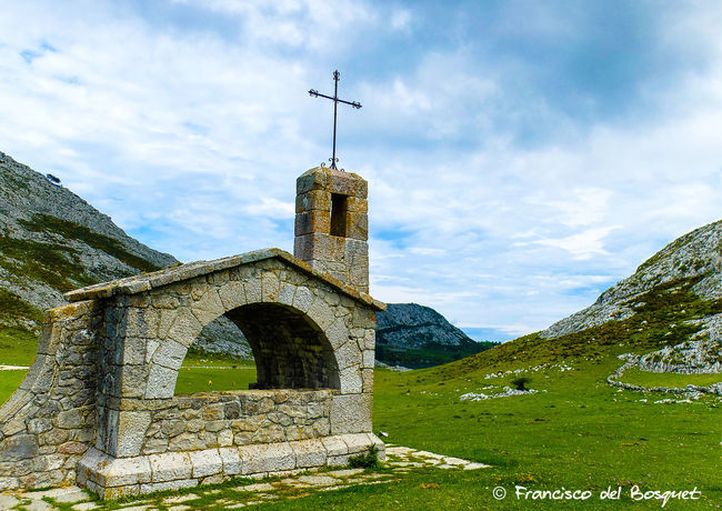 Architecture Asturias Asturies Celtic Covadonga Cross España Franciscodelbosquet Fuji X20 Hiking Holiday Landscape Religion SPAIN Stone Wall