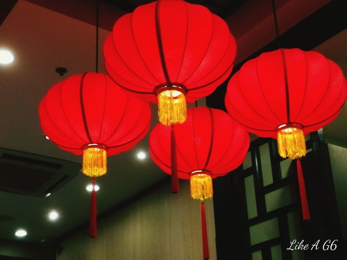 Hanging Lighting Equipment Chinese Lantern Decoration Illuminated Cultures Celebration Red Night EyeEm Selects Lgg6 Cellphone Photography