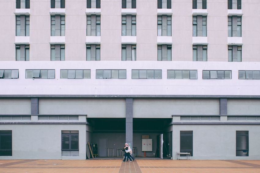 Beautifully Organized Feels so small Minimal Minimalism People People Walking  Streetphotography City Building Windows Symmetry