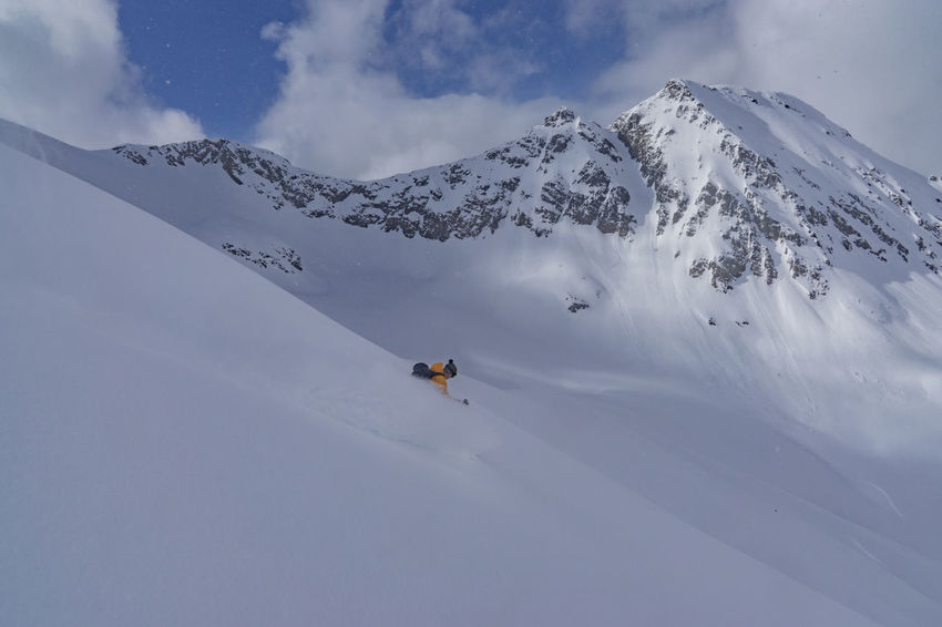 Adventure Backcountry Backcountry Skiing Cold Temperature Freedom Glacier Motion Mountain Mountain Range Powder Powder Skiing Real People Remote Ski Skier Skiing Slope Snow Speed Sport Steep Vacations Wilderness Winter Winter Sport