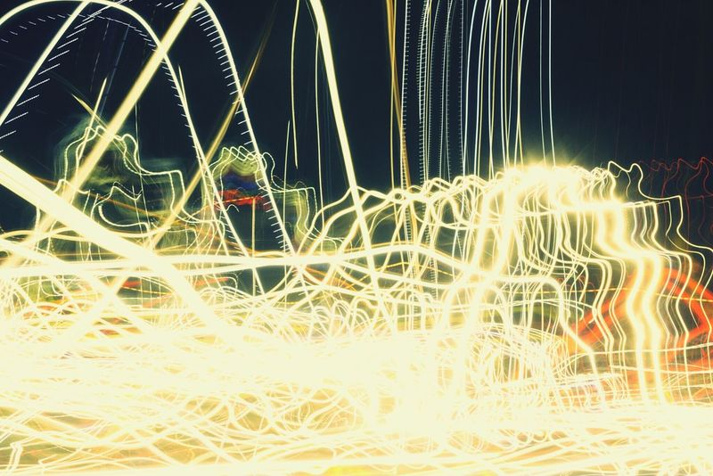 """""""Highway light painting, No. 7"""" (2015) Abstract Oddities Trippy Photo Trippyshit Tricky Pic Abstract Art Night Photography Light In The Darkness Light Painting Lights In The Dark Lightstreaks Lightshow"""