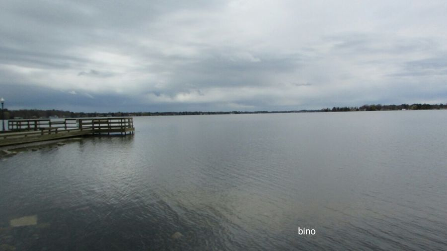 Taking Pictures Around The Lake Along The Pier Grey Day Water Is Calm Tranquility Quiet Time Lake Cadillac Pure Michigan