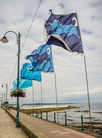 Blue Cloud - Sky Day Flag Low Angle View No People Outdoors Patriotism Penzance  Sky Street Light Wind