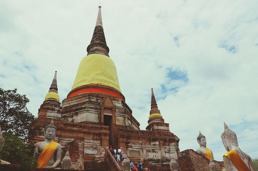 Temple in Ayutthaya Architecture Religion Travel Ancient Travel Destinations Ayutthaya | Thailand Ayudhaya Ayutthaya Thailand Watyaichaimongkol Ruin Temple Buddhist Temple Buddha Statue