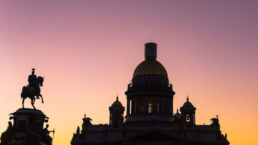 Low Angle View Of Historic Building Against Sky During Sunset