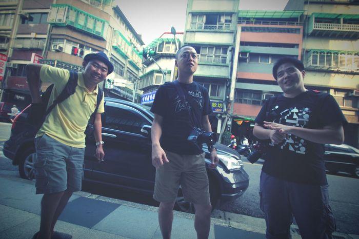The three amigos. Eyeem Meetup Taipei