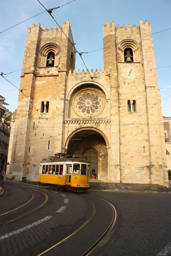 Architecture Building Exterior Built Structure Church Exterior Façade Famous Place Historic History Lisboa Lisbon Religion Spirituality Tram Transportation Yellowtram Seeing The Sights