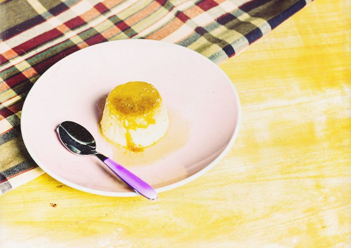 Yummy flan Table Food Food And Drink Still Life Plate Freshness Sweet Food Indoors  Indulgence High Angle View Dessert Directly Above Ready-to-eat Temptation Yellow No People Close-up Sweet Pie Day Creme Caramel Crème Brûlée Custard Sweet Foods