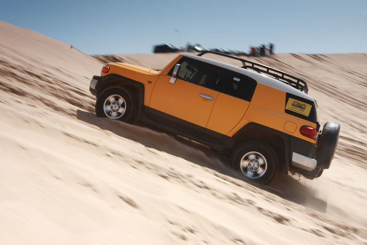 Adventure Brave Car Desert FJ Free Pass Through Speed Toyota