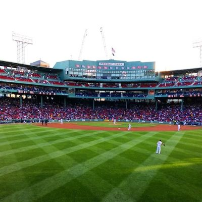 Not quite dead center, but close enough. Myfenway Not36