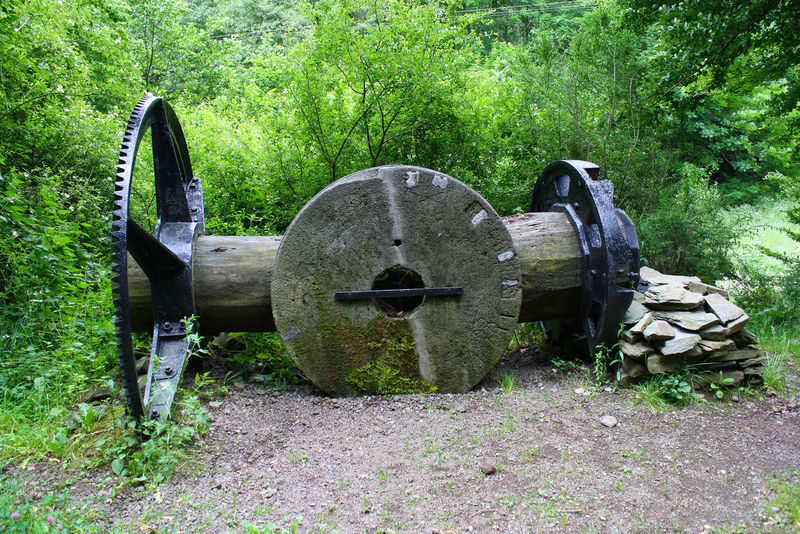 1888 History Mill Millwheel Mühle No People Old Outdoors Relict Technical