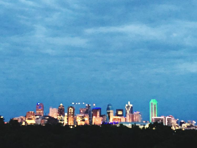 City Lights Dallas Cityscape Skyline Sky City