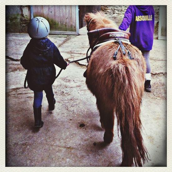 Ma petite cavalière.