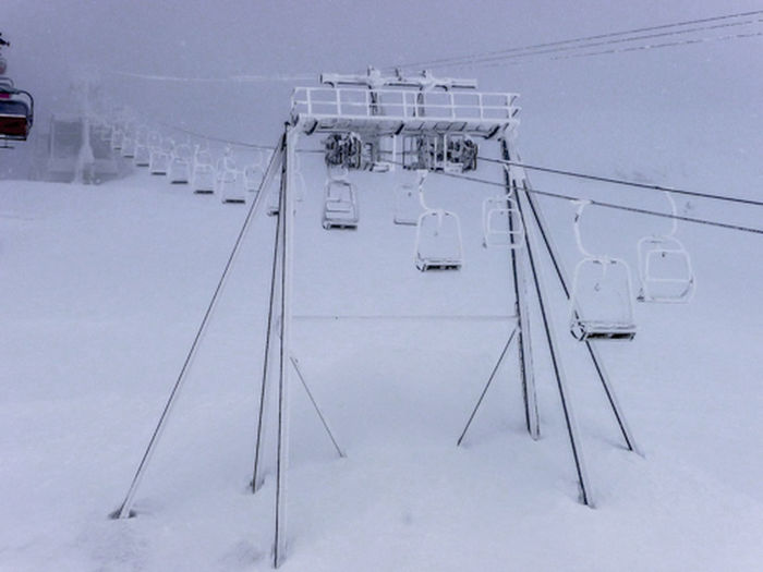 Chairlift Cold Temperature Glacier MölltalerGletscher Outdoors Snow Winter