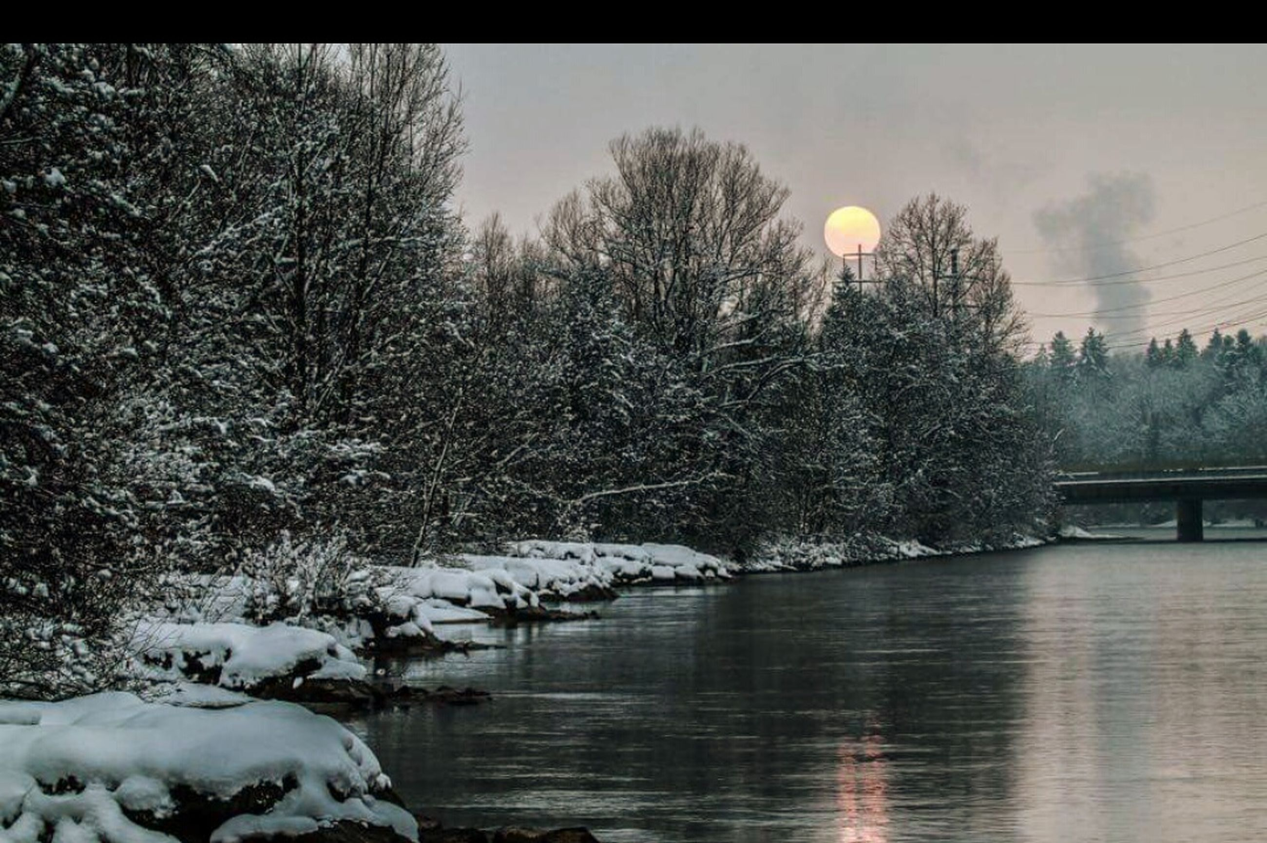 snow, winter, cold temperature, bare tree, tree, season, tranquil scene, tranquility, water, sky, weather, scenics, beauty in nature, nature, lake, river, frozen, reflection, branch, covering