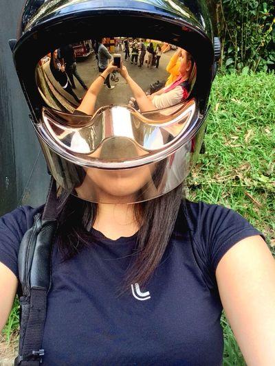 Me Myself Selfie ✌ ThatsMe Medicine Fireman Helmet Fireproof Mirror Perspectives