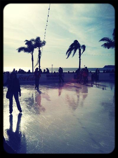 Ice Skating At The Beach