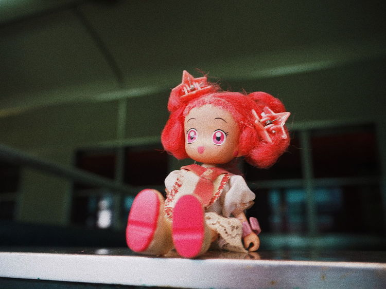 Looking from the inside... Inside Outside Toy Toys Toy Photography Doremi Doll Pink Hair Cute Girl Little Decoration Train Looj