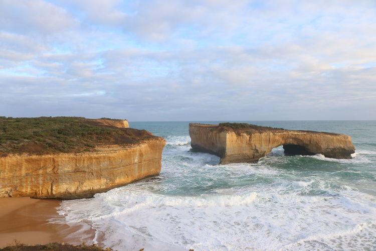 The broken bridge Australia Great Ocean Road London Bridge Ocean View Water Waves Fresh On Eyeem