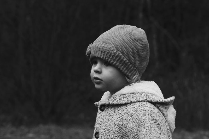 Portrait Of Toddler In Winter